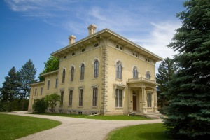 Abraham Lincoln stayed at this home after delivering a series of speeches in Wisconsin in 1859. Now known as the Lincoln-Tallman House, it contains more than three-quarters of its original furnishings, including the bed Lincoln slept in, and is open for tours.