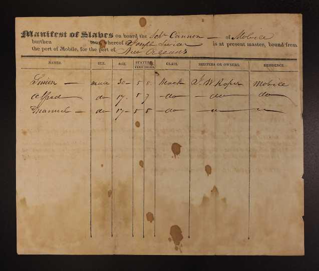 SlaveManifest 1828-Roper